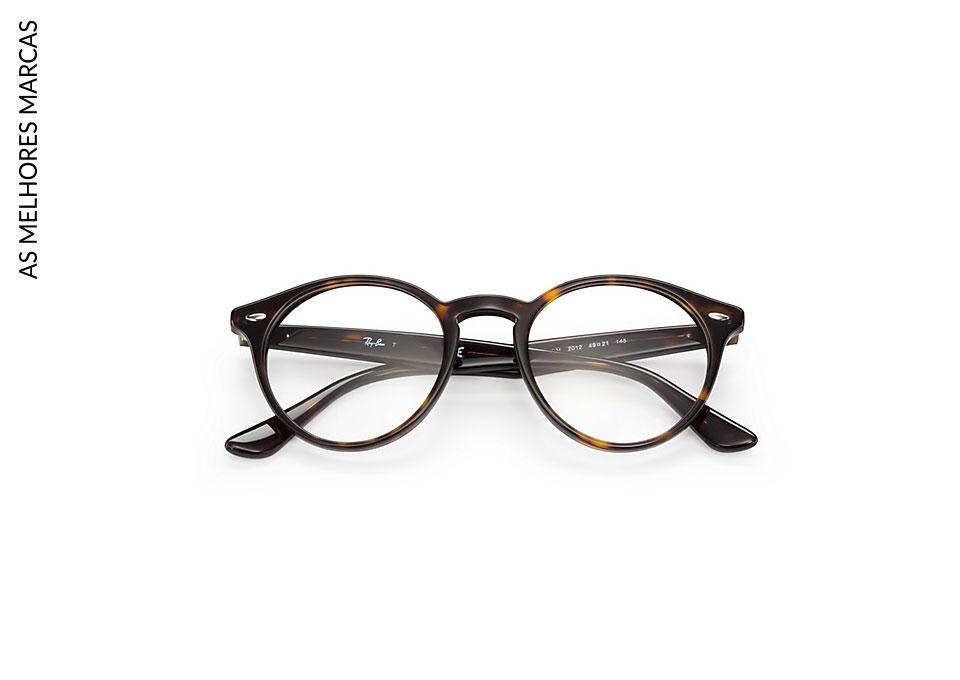 armações de óculos-preto